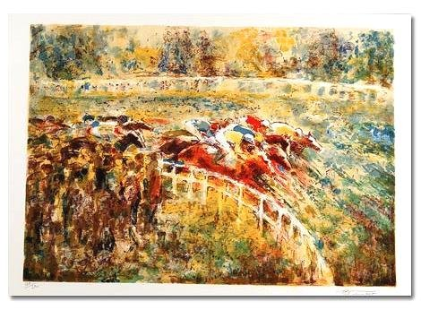 LIMITED EDITION Lithograph AROUND THE TURN Georges TRINCOT