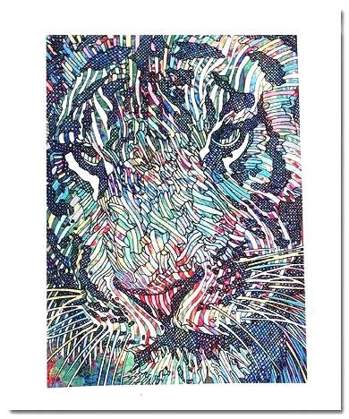 LIMITED EDITION Giclee TIGRIS II by GUILLAUME AZOULAY