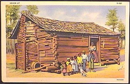 BLACK Americana Postcard COLOR PHOTO