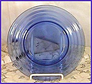Moderntone Cobalt Luncheon Plate by Hazel Atlas