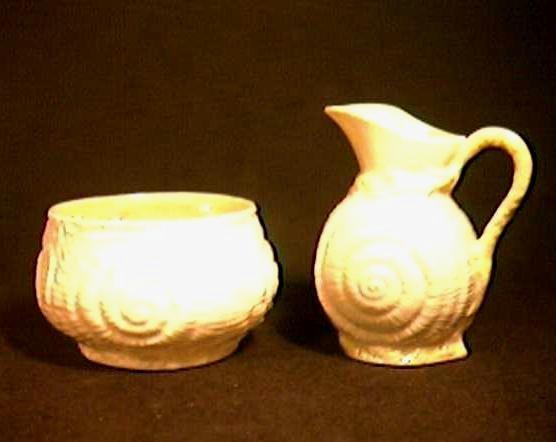 IRISH BELLEEK SUGAR Bowl & CREAMER