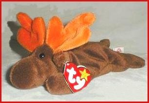 TY CHOCOLATE The MOOSE Beanie RETIRED Ship $3.25
