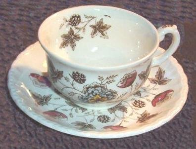 Grindley OLD CHELSEA Staffordshire CUP & SAUCER (s)