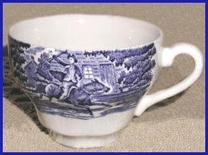 LIBERTY BLUE Staffordshire TEA CUP (s)