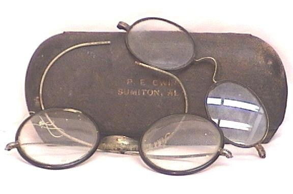 Two Pair Vintage Spectacles with Case