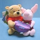 FRIENDSHIP POOH & PIGLET Ltd Ed DISNEY Bean Bags