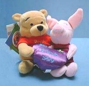 FRIENDSHIP POOH & PIGLET Ltd Ed DISNEY Bean Bags