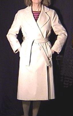 LESLIE FAY Ladies WOOL COAT Size 6