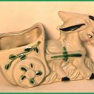 Hand Painted Donkey with Cart Planter Circa 1950