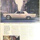 Color LINCOLN CONTINENTAL Magazine AD 1963