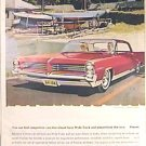 COLOR Full Page PONTIAC BONNEVILLE Ad 1963