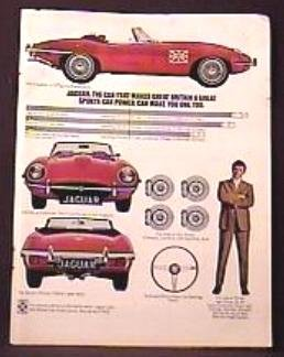 JAGUAR AUTOMOBILE Magazine AD 1970