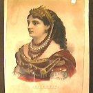 Currier and Ives Hand Colored Lithograph Portrait