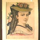 Currier & Ives Hand Colored Lithograph Portrait