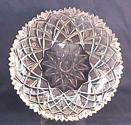 Old Cut Glass Dish