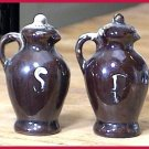 Vintage Covered Jugs Salt & Pepper Shakers