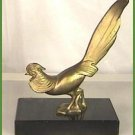 Art Deco Brass & Marble Pheasant Bookend