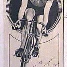 Cecil Walker Period Autograph on Pen & Ink Drawing Cycling