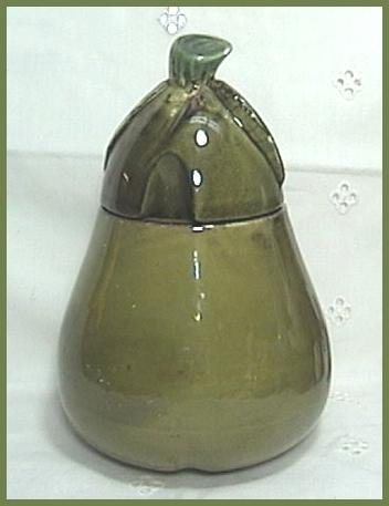 Pear Figural Honey Pot or Jam Jar