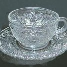 Federal 'Heritage' Crystal Cup & Saucer (s) Circa 1949