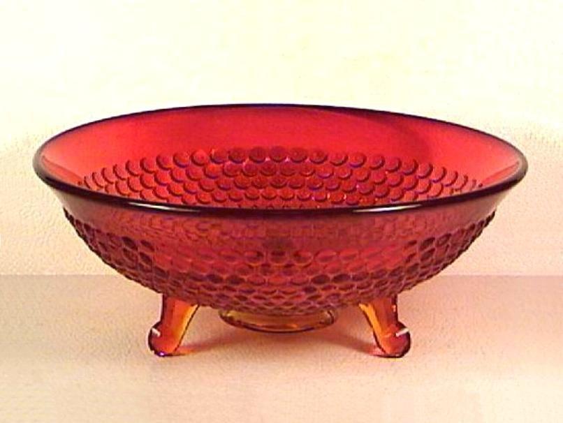 Ruby Thousand Eye Bowl by Fenton Glass circa 1934