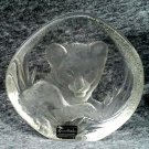 "Lion Cub Crystal 5"" Paperweight Signed Mats Jonasson"