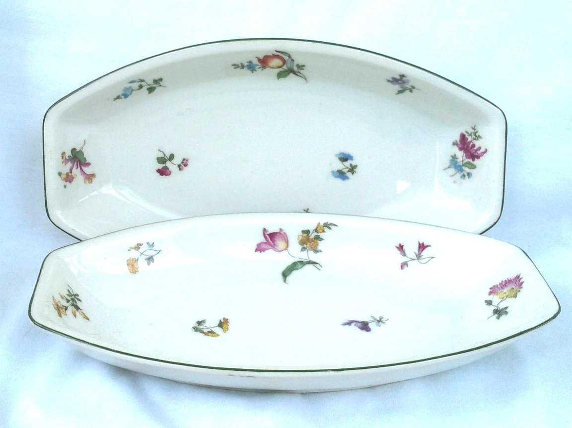 Two Bone China Serving Dishes Ca.1930 Czechoslovakia