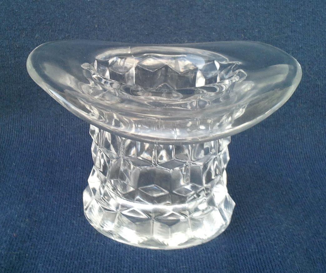Fostoria American Crystal Top Hat Vase 3 Inch