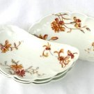 Set of Four Haviland Limoges Bone Dishes Floral Circa 1910