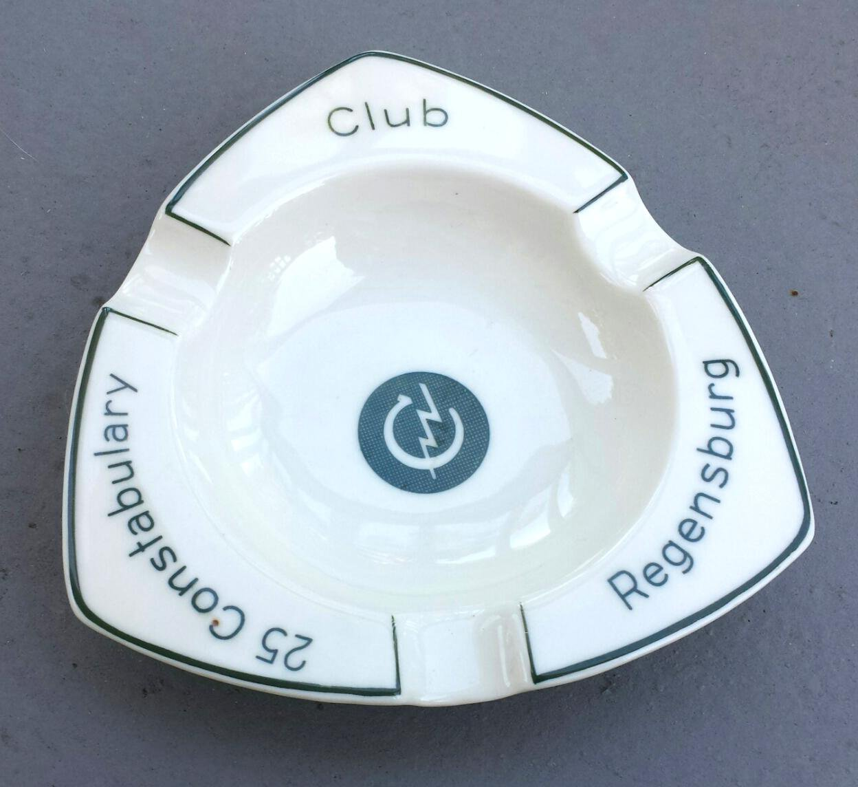 Military Club Souvenir Ashtray, 25th Constabulary, Regensburg, Germany