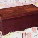 Mahogany Wood Inlay Document Box with All Around Shaped Apron