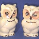 Winking Owls Salt & Pepper Shakers Shawnee Pottery