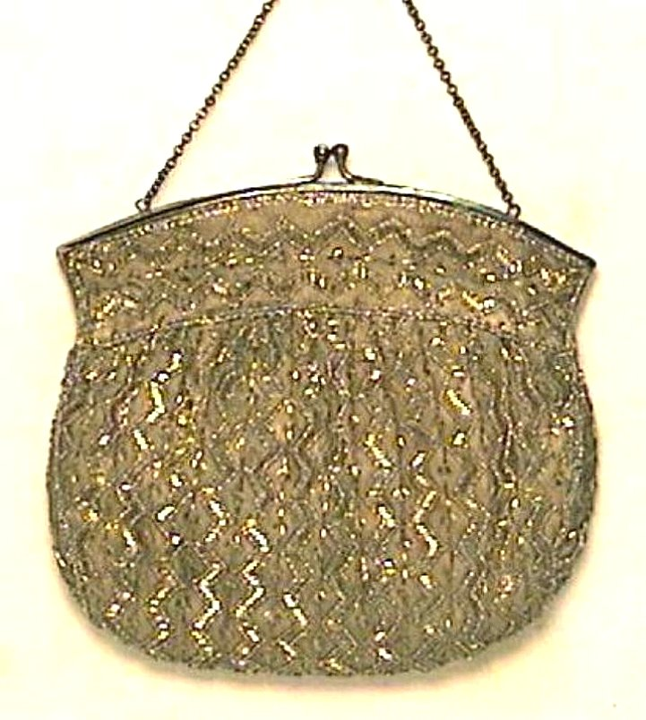 Fine Hand Beaded Purse by Charlet Circa 1900