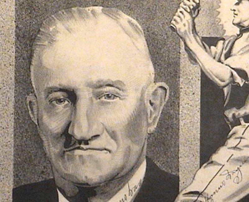 Honus Wagner Autographed Pen & Ink Drawing Signed Twice