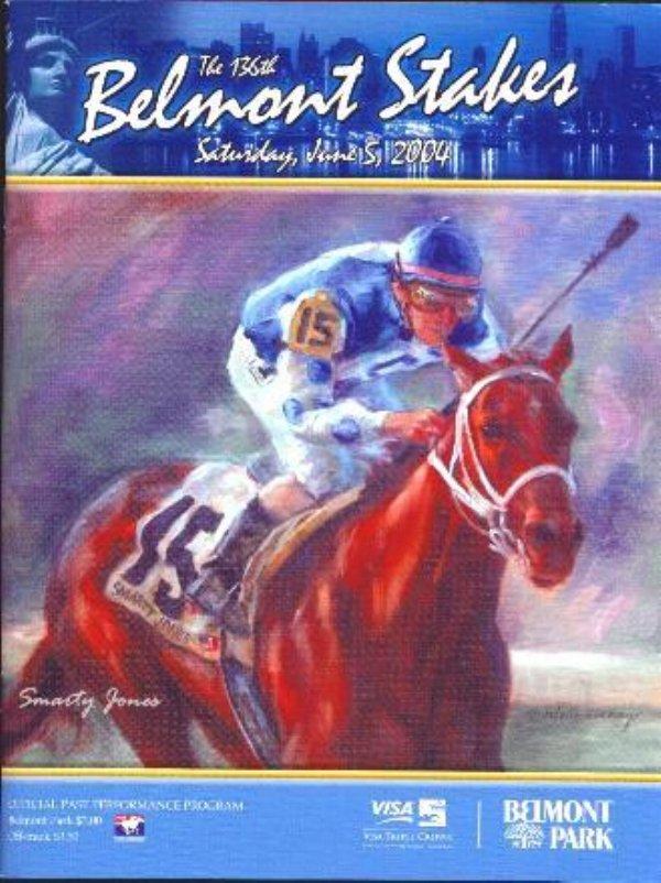 136th Belmont Program - Smarty Jones Cover - 2004 Winner Birdstone
