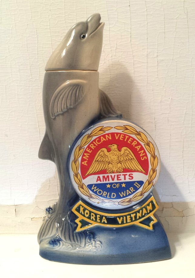 Ezra Brooks Dolphin Amvets Decanter 1974 Veterans National Convention