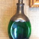 Pewter Clad Bottle Decanter Green - Made in Holland