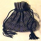 Vintage Woven Nylon Drawstring Purse Handbag
