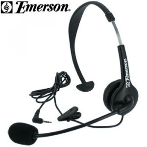 EMERSON HANDS FREE HEADSET WITH BOOM MICROPHONE