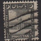 PAKISTAN 1949/53 - Scott 52 used - 8a, Karachi Port building  (G - 693)