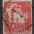 PAKISTAN 1954 - Scott 69 used - 1.1/2a, Emperor Jahangir's Mausoleum   (6-538)
