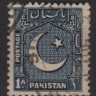 PAKISTAN 1948/57 - Scott 27  used - 1a, Star & Crescent  (6-545)