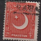 PAKISTAN 1949/53 - Scott 49 used  - 2a, Star & Crescent (6-554)
