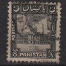 PAKISTAN 1949/53 - Scott 52 used - 8a, Karachi Port building (6-557)