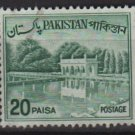 PAKISTAN 1963/70 - Scott 135C  used - 20p,  Shalimar Gardens, Lahore (6-597)