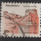 Pakistan 1984/88 - Scott  620 used -  80p, fort Ranikot (6-608)