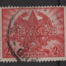 Australia 1946  - Scott 200 used - 2.1/2p,  end of WWII, peace (S-621)