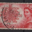 Australia 1953  - Scott 259 used - 3.1/2p, Queen Elizabeth II coronation (S-622)