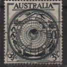 Australia 1954  - Scott 276 used - 3.1/2p, Antarctic continent (S-624)