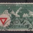 Australia 1955  - Scott  283  used - 3.1/2p, YMCA cent. (S-628)